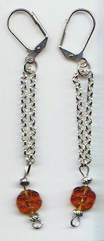 Amber Drops Earrings $5.00