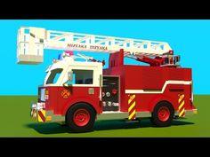 Camion de pompier en action dessin animé éducatif francais. Jeu d'assemblage : le camion d'incendie. - YouTube