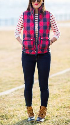navy stripes and navy plaid instead