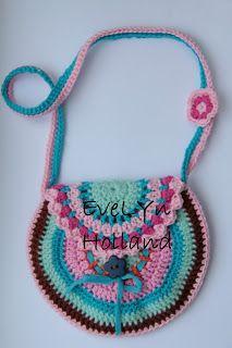 Haken en Kralen... by EveLYn purs, crochetbag, en kralen, tasj, tassen, crochet bag, crochet pattern, bag patterns, haken en