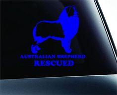Australian Shepherd Rescued Dog Symbol Decal Funny Car Truck Sticker Window (Blue) ExpressDecor http://www.amazon.com/dp/B00RZZP5NA/ref=cm_sw_r_pi_dp_2CYRub09RCRMG