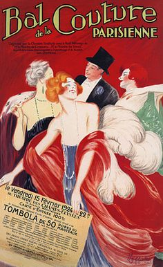 Bal de la Couture Parisienne by Cappiello.  http://www.vintagevenus.com.au/vintage/reprints/info/D159.htm