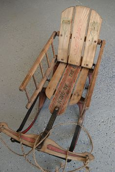 "This is an antique sled.   The dimensions are: 28 1/2"" x 13"" x 19""."