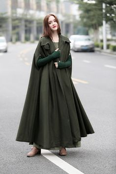 Wool winter coat NEW ARRIVAL 【Characteristic】 cloak design extracts the visual elements from film and tale to put on the stage of modern era and romantic emotions again; the sleeve adopts shoulder overlap design which makes the shoulder outline more stereo; the collar arc is very mellow and full, responding to and integrating with the lower herm of sleeve. fully lined strong sense of presence  This design belongs to our Moments Like This series. What will you take you back to those sweet…