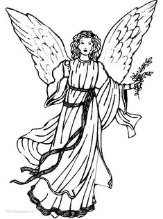 Christmas Coloring Pages for Adults | ... COLORINGPAGES : Christmas >> Angels >> Christmas angel coloring page