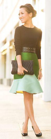 Colorblock Skirt & Brazil Memories by Wendy's Lookbook