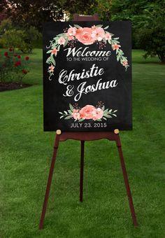 Chalkboard Wedding Signs - Wedding Decor Personalized Wall Art