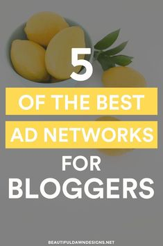 Sharing the top 5 ad networks for bloggers. via /tiffany_griffin/