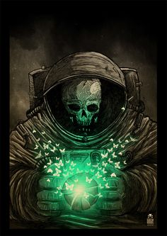 Dead astronaut by Sebastian Skrobol, via Behance