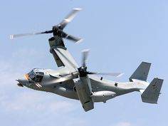 V-22 Osprey, fastest operational helicopter, good for transport to areas without landing strips