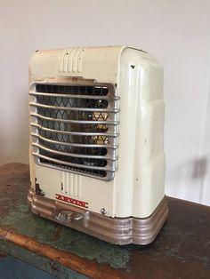 Art Deco Upcycled Lamp Repurposed Lamp Vintage Heater Fresh