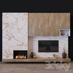 models: Other - tv set 36 Living Tv, Living Room Tv Unit, New Living Room, Modern Living, Modern Fireplace, Living Room With Fireplace, Fireplace Design, Tv Set Design, Tv Wall Design
