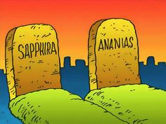 FreeBibleimages :: Ananias and Sapphira :: Ananias and Sapphira think they can get away with their deception (Acts Bible Stories For Kids, Bible Crafts For Kids, Bible Lessons For Kids, Preschool Bible, Ananias And Sapphira, Acts 5, Acts Of The Apostles, Recurring Nightmares, One Last Chance