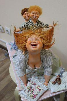 """Купить Авторская кукла """"Игра в лошадки"""" - авторская ручная работа, авторская кукла, мама и малыш"""