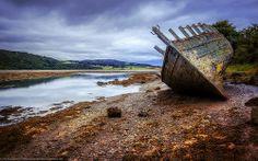 Wreck at Dulas Bay, Anglesey, Wales