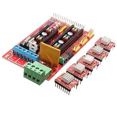 US$19.49 3D Printer Kit RAMPS 1.4 Control Board 5Pcs 4988 Driver With Heat Sink