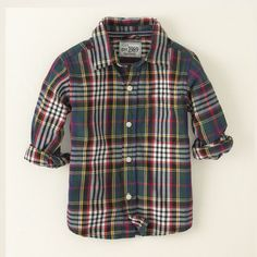baby boy - long sleeve tops - plaid shirt | Children's Clothing | Kids Clothes | The Children's Place