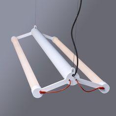 Tonone-Mr-Tubes-LED-Hanglamp-Double Linear Lighting, Lighting Design, Tube Led, Interior Design Elements, Exterior Lighting, Wall Shelves, Lamp Light, Industrial Design, Clothes Hanger