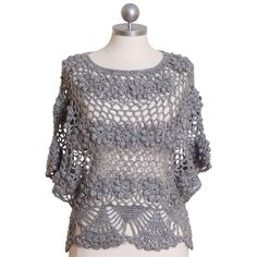 Cute crocheted sweater/poncho