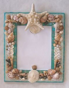 glass tiled shell mirror | Patricia Rockwood Mosaics - shell mirror