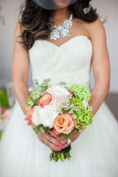 WedLuxe– Spring-Coloured Couture | Photography by: Elizabeth In Love Follow @WedLuxe for more wedding inspiration!