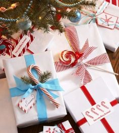 ✔ Streamline gift-giving by wrapping all your presents in the same pristine white paper brightened with bold color. It's elegant, economical, and easy to customize with tree cuttings, tags, and tempting candies. - GoodHousekeeping.com