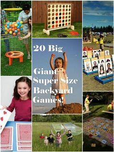 20 big, giant, super sized outdoor games for summer. Pinning this for party ideas.