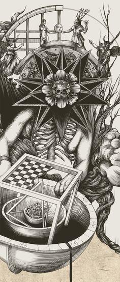 """Alchemy:  """"Alchemy,"""" by DZO Olivier, via Behance."""