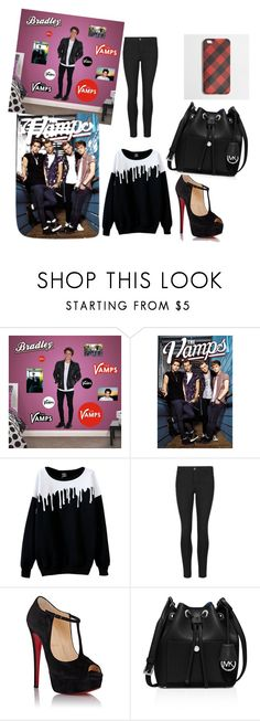 """the vamps"" by nabilahqurratulain ❤ liked on Polyvore featuring Fathead, Indigo Collection, Christian Louboutin, MICHAEL Michael Kors and J.Crew"