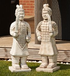 Terracotta Warriors Stone Ornaments Large Garden Statue. Buy now at http://www.statuesandsculptures.co.uk/large-garden-statues-terracotta-warriors-stone-ornaments