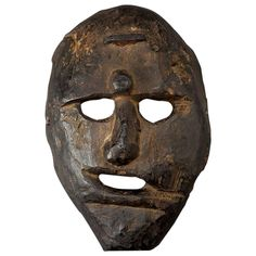 19th Century Primitive Shamanic Mask, Nepal | See more antique and modern Sculptures and Carvings at https://www.1stdibs.com/furniture/asian-art-furniture/sculptures-carvings
