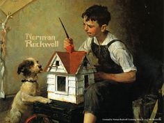 Making the Perfect Birdhouse - Norman Rockwell