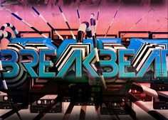 Breakbeat Text on Behance Future Vision, Music Radio, Heart And Mind, 3d Text, Tokyo, Neon Signs, Japan, Behance, Thursday