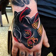 Jonathan Montalvo - black rhino tattoo
