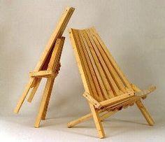 DIY wooden folding chair