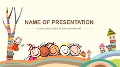 Happy Children PowerPoint template for Education_Best PowerPoint templates and Google Slides for free download