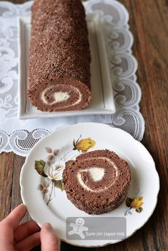 Bake for Happy Kids: Cottony Soft Chocolate Rice Swiss Roll - Asian Sty...
