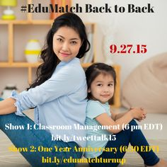 Join us for an #EduMatch double header tonight, from 6-7 EDT!