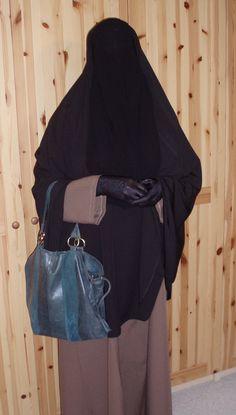 Taupe abaya black gloves niqab and khimar. Arab Girls Hijab, Girl Hijab, Sequin Bodysuit, Niqab Fashion, Hijab Niqab, Black Gloves, Beautiful Hijab, Muslim Women, Satin