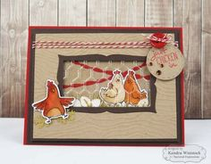 Pair our Embossing Folder in Chicken Wire with our Happy Hens Stamp & Die Combo for a fun farmyard scene. Sheep Cards, Bird Cards, Butterfly Cards, Girly Games, Chicken Wire, Chicken Nuggets, Scrapbooking, Scrapbook Cards, Card Companies