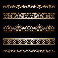Invitaciones Art Deco, Zbrush, Molduras Vintage, Boarder Designs, Cnc Cutting Design, Vintage Borders, Turkish Art, Picture Logo, Islamic Art Calligraphy