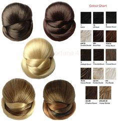 VALLEY INSTANT UPDO HAIR BUN, HAIRPIECE CLIP ON BUN – 14 COLOURS AVAIL