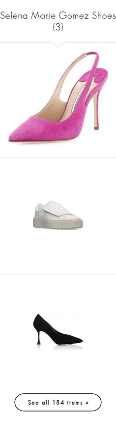 """""""Selena Marie Gomez Shoes (3)"""" by taught-to-fly19 on Polyvore featuring shoes, pumps, suede pumps, suede shoes, manolo blahnik pumps, slingback shoes, sling back shoes, sneakers, velcro strap sneakers e velcro shoes"""
