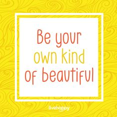 Stop the self-criticism and focus on being the best you! Get to know and love your authentic self because YOU ARE BEAUTIFUL in your own, unique way. Be Your Own Kind Of Beautiful, You Are Beautiful, Love You, Happiness Quotes, Happy Quotes, Authentic Self, Live Happy, Getting To Know, Photo And Video