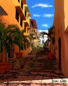 Caleta de las monjas in Old San Juan PR by Esteban Robledo, via Flickr