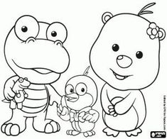 Free Crong and Loopy, two of the friends of the little penguin Pororo next to Harry, the Hummingbird coloring and printable page. Hummingbird Colors, Disney Coloring Pages, Bts Chibi, Diy Garden Decor, Cute Wallpapers, Hello Kitty, Snoopy, Printables, Diy Crafts