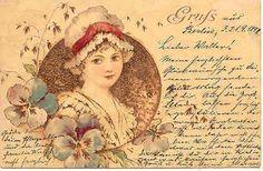 """ Gruss aus Berlin, 1898 "" Karodens Vintage Post Cards."
