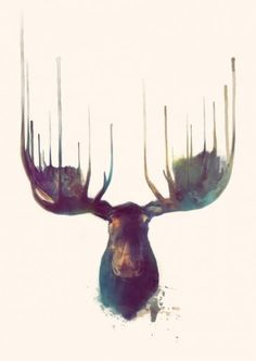 I like the degree of asymmetry used here. It is realistic since animals' antlers are never identical and brings in a visual element.