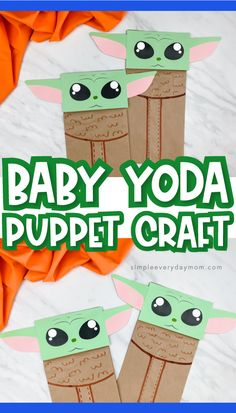 Make this adorable and easy Baby Yoda craft for kids! It's great for Star Wars and Mandalorian fans, plus it comes with a free printable template! Make it with preschool, kindergarten and elementary children. Spring Crafts For Kids, Crafts For Boys, Summer Crafts, Art For Kids, Star Wars Art Projects For Kids, Kid Crafts, Preschool Crafts, Easy Crafts, Kindergarten Art Projects