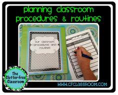 TEACHING PROCEDURES & ROUTINES {Blackline Design} classroom management tool - Clutter-Free Classroom - TeachersPayTeachers.com